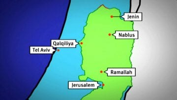 Animated map of the Israeli Separation Barrier