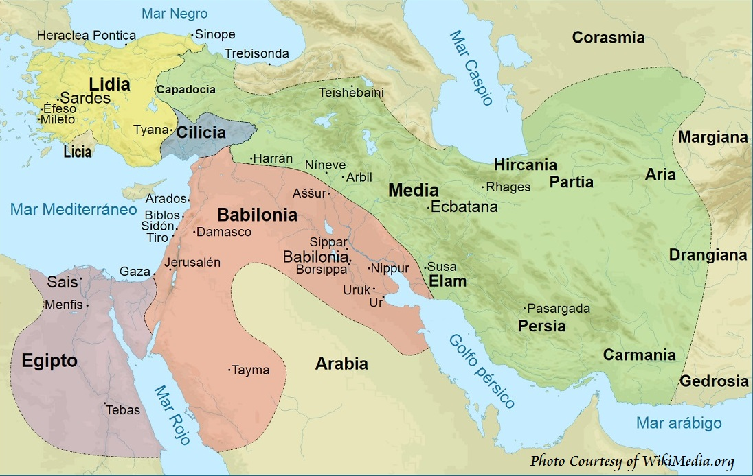Ancient history timeline - Map Persia and Medes