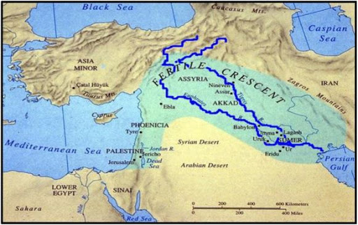 Ancient History timeline - Map Mesopotamia
