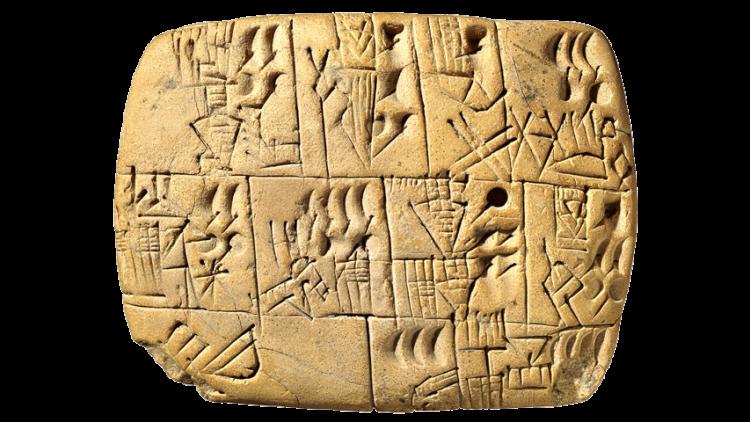 First writing - cuneiform writing